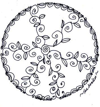 doodling…swirl, twist, half circle, straight line ,dip