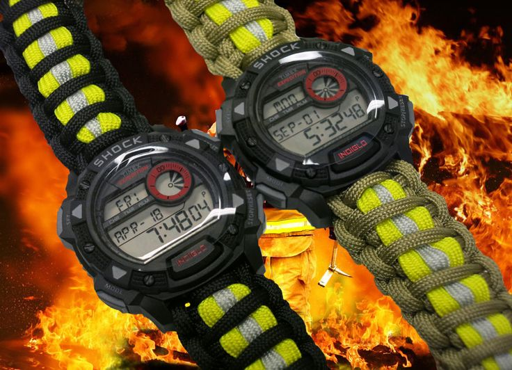 Band is custom handmade from genuine military issue paracord 550 and is king cobra weave with Bunker Gear/Turnout Gear Color Scheme. - Firefighter Paracord 550 Band with watch. - Band is 100% custom handmade in USA by me. | eBay!