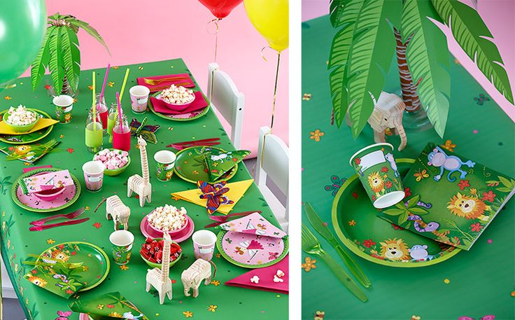 Kids' party - jungle table setting Design Jungel Friends from Duni