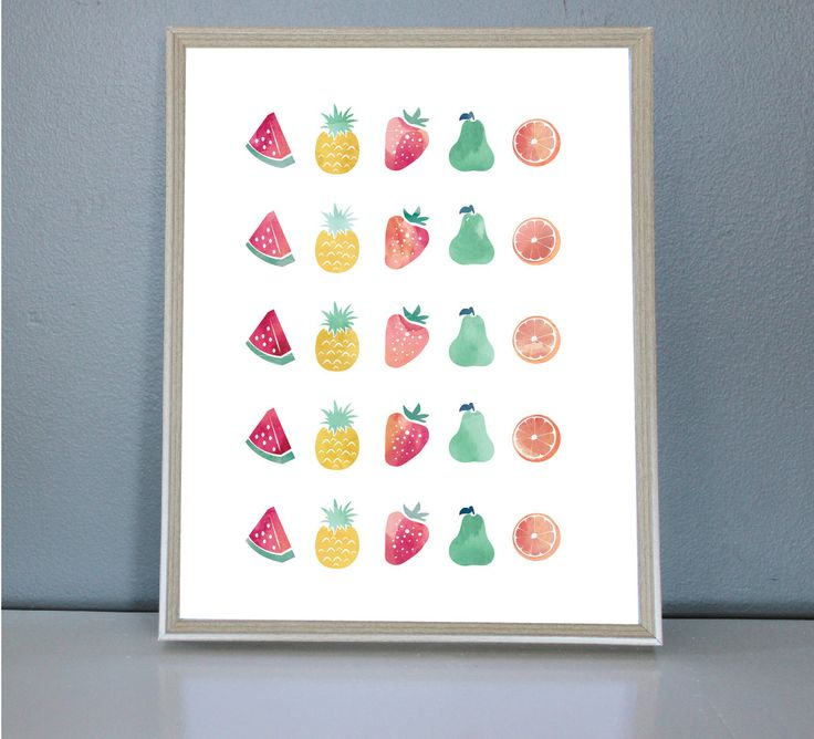 Fruit Salad- Wall/Art Print 8X10, 11X14 by PrettyPaperPlaceShop on Etsy