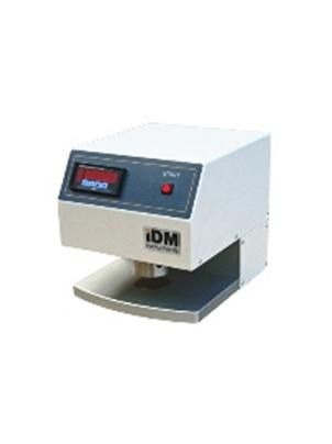 The Digital Micrometer is used to measure the thickness of paper, plastic, tissue and other sheeted material.  It automatically cycles up and down at the push of a button, providing an accurate and repeatable thickness reading at the end of each cycle.  The robust design Digital Micrometer is provided with two plane, parallel, circular pressure faces, between which the material is placed for measurement.