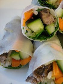 A Creative Little Kitchen: Gluten Free, Dairy Free Recipes: Beef and Veggie Rice Wraps