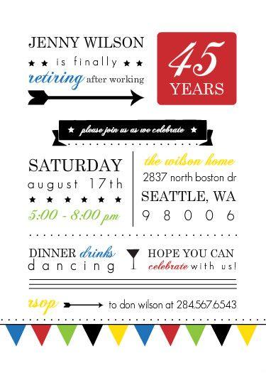 27 best retirement party ideas, invites, decor images on Pinterest - retirement party flyer template