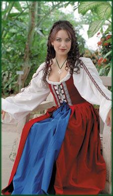 Celtic Renaissance Dress: Renaissance Clothing and Medieval Costumes by Elizabethan Outfitters