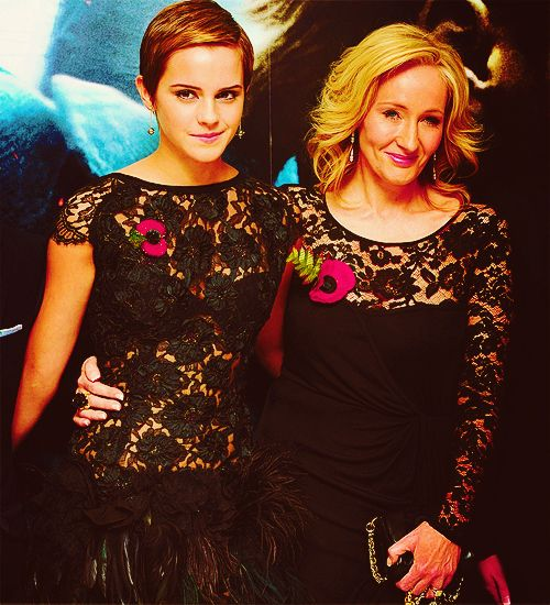Emma and Jo! So cute!: Jk Rowling, Emma Watson, Harry Potter, J K, Celebrities, Emmawatson Jkrowling, People