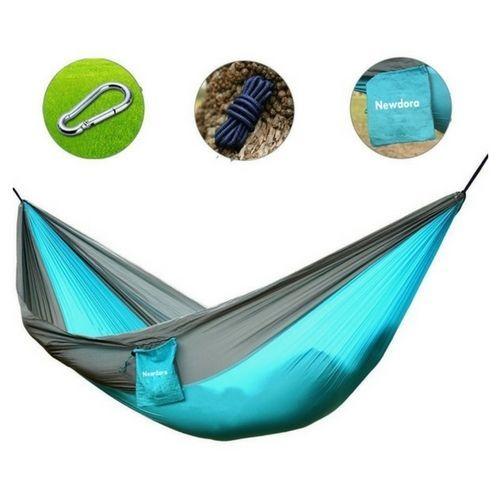 Outdoor Camping Hammock Foldable Portable Parachute Nylon Yard Garden Travel #OutdoorCampingHammock