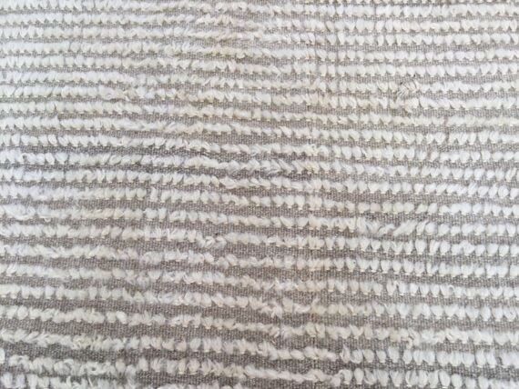 Vintage Pom Pom Anatolian Fringed Turkish Pattern Rug ANGORA Wool // 248 x 178 cm by EclecticRug on Etsy