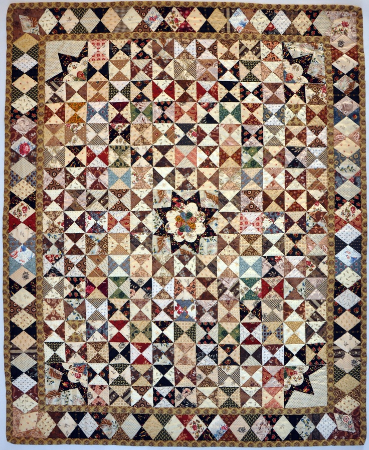 """My Quilt """"Antonia"""" named after my mother.  It's a copy of a Dutch quilt (1775-1800).  Made by Christel Luijten."""
