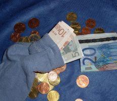 Geldgeschenke basteln - Sparstrumpf