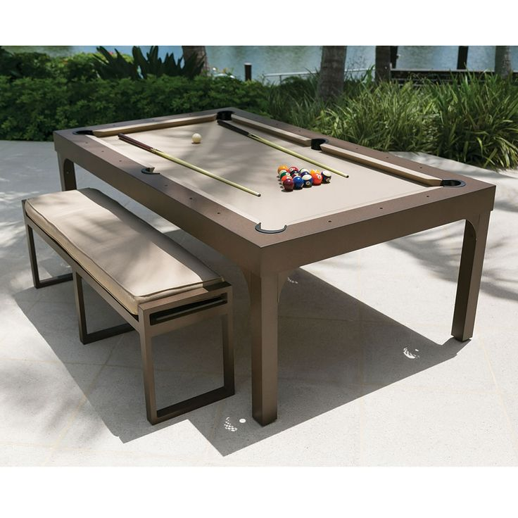 The Outdoor Billiards and Dining Table #Billiards #Furniture #SportsOutdoors - Madeofmillions.com