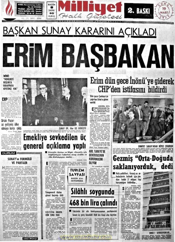 Milliyet gazetesi 19 mart 1971