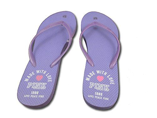 Victorias Secret Womens PINK PURPLE Flip Flop  LARGE 910 *** Details can be found by clicking on the image.