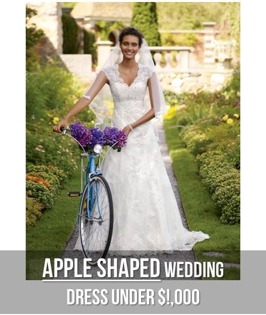 Wedding dresses for apple shaped bodies your body shape for Wedding dresses for apple shaped body