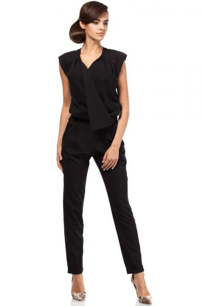 Black business jumpsuit for women