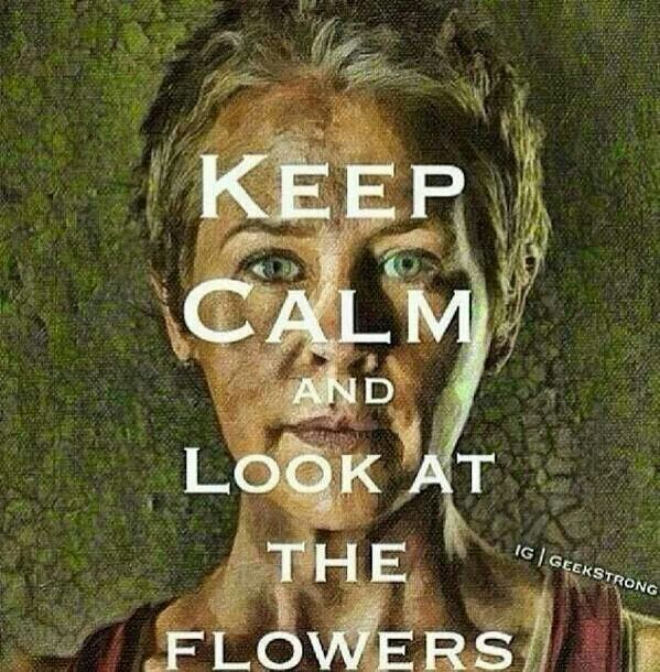 Keep Calm and Look at the Flowers ~ The Walking Dead :(