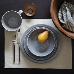 neutral dinnerware | ... gray dishes to set a nice neutral backdrop for your culinary delights