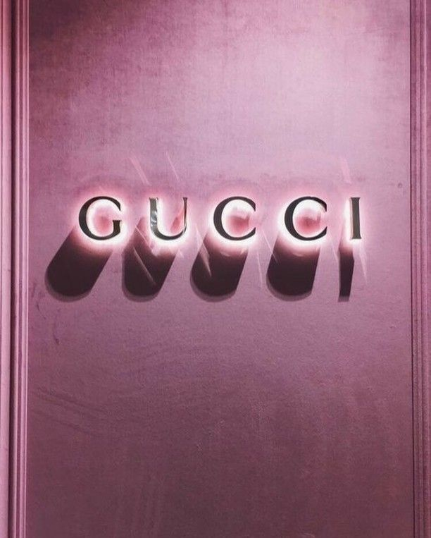 Gucci Now Here Is A Neon Sign We Can Get Around Gucci Interiordesign Gucci Design Fashi Chanel Wallpapers Pastel Pink Aesthetic Pink Aesthetic