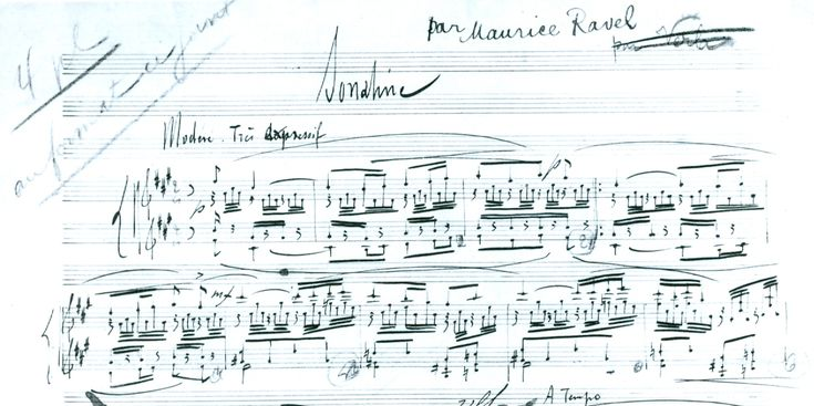 Autograph of Ravel's Sonatine for piano.  'Sonatine' | Henle Blog