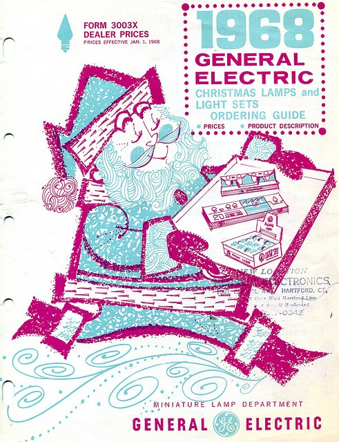 Christmas •~• General Electric Christmas Lamps and Light Sets Ordering Guide, 1968