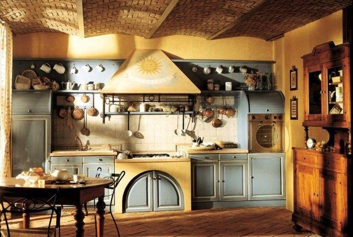 rustikale wohndekoration kche dekorieren gemtlich gestalten - Kleine Galeere Kche Bilder Umgestalten