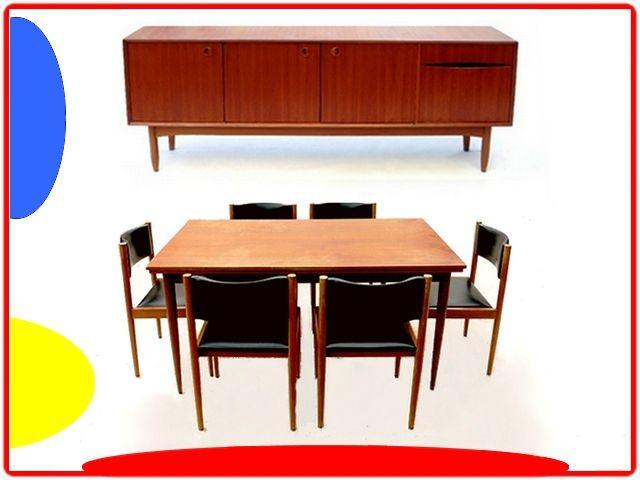 Table Chaises Salle A Manger Vintage 1970 V Meubles Deco Vintage