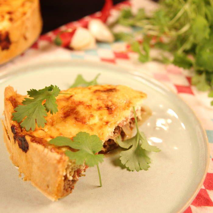 Perfekt middag eller till lunch. Byt ut era vanliga tacos mot den här goda tacopajen. Lättlagad och supergod.