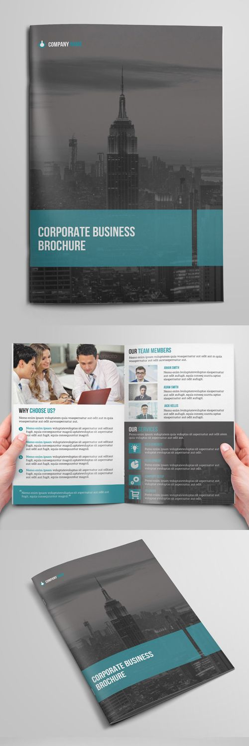 Bi fold brochure design for corporate business brochure for Corporate bi fold brochure template