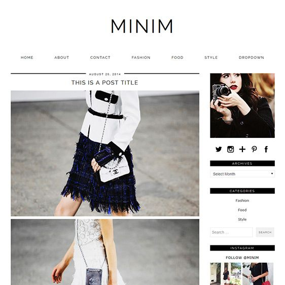 53 best WordPress Themes by pipdig images on Pinterest Blogging - fashion blogger templates