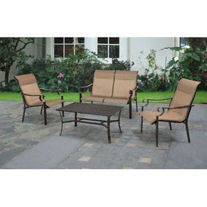 Mainstays Valancia 4pc Sofa Chat Set