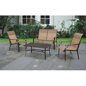 Sling patio conversation set seats 4 patio furniture conver sets