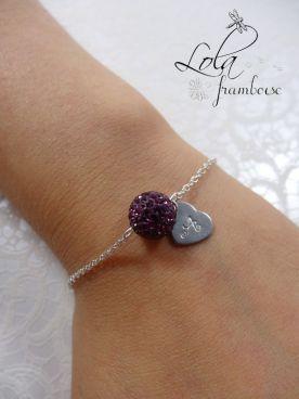 bracelet pour témoin et demoiselle d'honneur , bracelet personnalisé, bracelet à offrir, bijoux mariage, www.lolaframboise.com