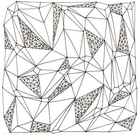 pattern by krisztiballa #krisztiballa #pattern #patterndesign #surfacepatterndesign #bw #mesh