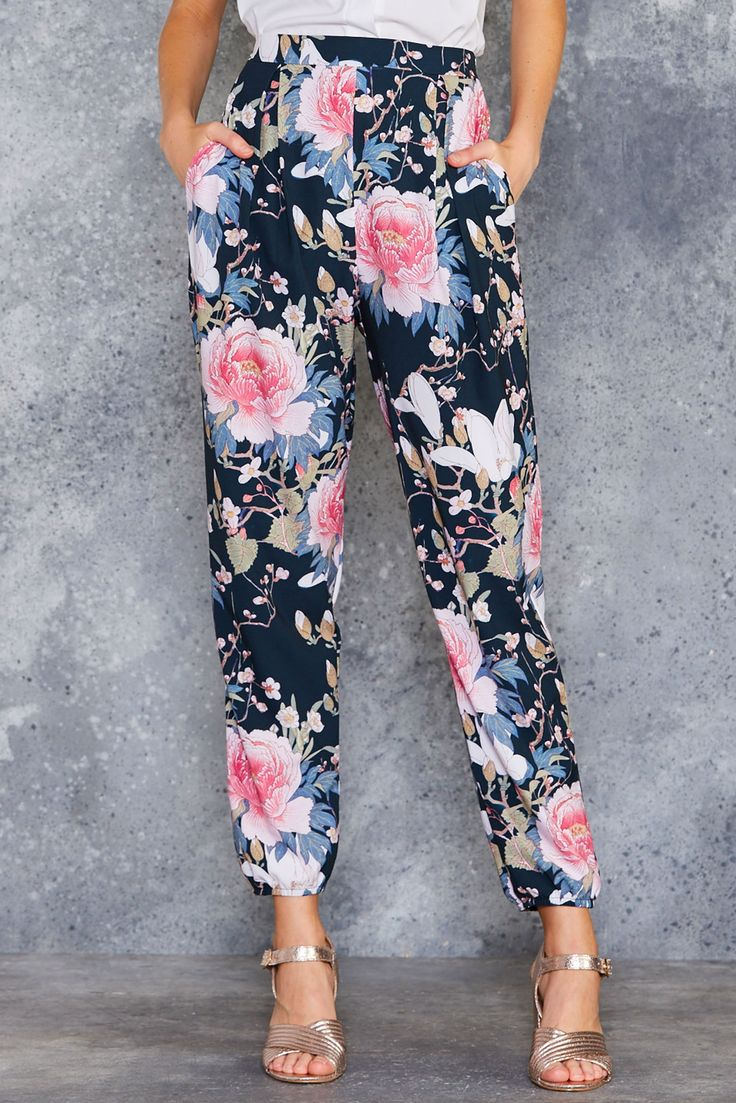 Koson Flowers Lounge Pants - PRESALE ($120AUD) by BlackMilk Clothing