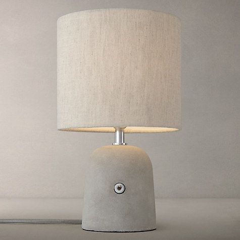 Buy John Lewis Meryl Concrete Switch Table Lamp, Grey Online at johnlewis.com