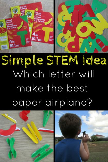STEM with letters - even your preschoolers and K kids can have fun with STEM activities. Try out this fun flying letters activity! #stemactivitiesforkids