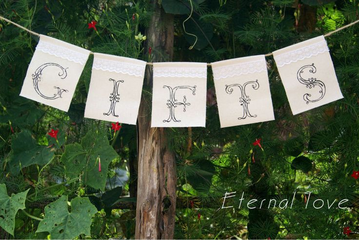Gifts Burlap Banner