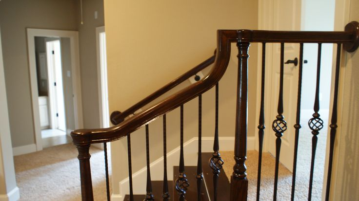 The completed staircase, using our powder coated wrought ...