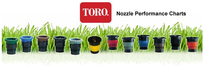 Toro Nozzle Performance Charts For Lawn Sprinklers & Irrigation Systems