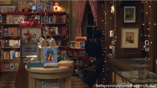"Inside The Shop Around the Corner Bookstore, from the movie ""You've Got Mail"": Dreams Job, Books Display, Movie Sets, You'V Got Mail, Books Stores, Favorite Movie, Children Books, Movie Houses, Mail Bookstores"