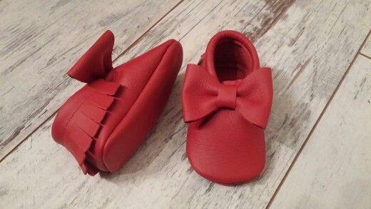 hobea kırmızı bebek patikleri
