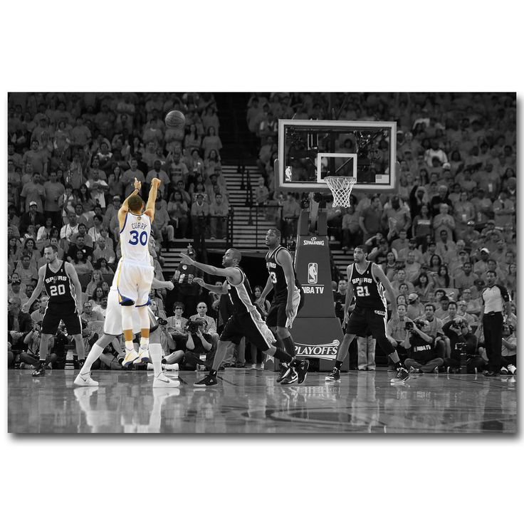 Stephen Curry Last Second Shoot Art Silk Fabric Poster Print 13x20 24x36 inch Basketball Sport Pictures for Room Wall Decor 031 #Affiliate