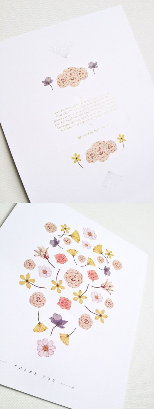 a beautiful, spring wedding invitation featuring gold foil & floral details - created by Cempaka Surakusumah, a designer from Jakarta, Indonesia.