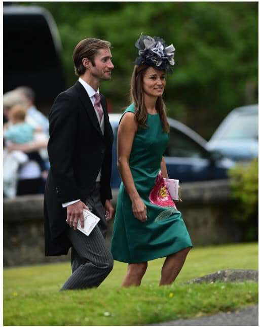 Pippa & James attend a country wedding