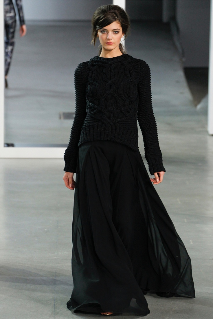 Derek Lam NY Fashion WeekF/W 2012-13: Derek Lamb, Chunky Sweaters, Fashion Week, Long Skirts, Fall Looks, New York Fashion, Fall Winter, Knits Sweaters, Maxi Skirts
