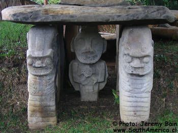 San Agustin Colombia Archaeological Site Pre-Colombian Statues in South America