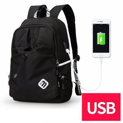 Fashion Student College Backpack With USB Charging Black  Fashion Waterproof Backpack  Laptop Guy For Him School notebook external charge Vintage Bag awesome For sale gift ideas Products Shops Store Website online shopping internet links gift fashion Auhashop.com  For Modern Student Ideas School Accessories Cool Fashion Gift ideas