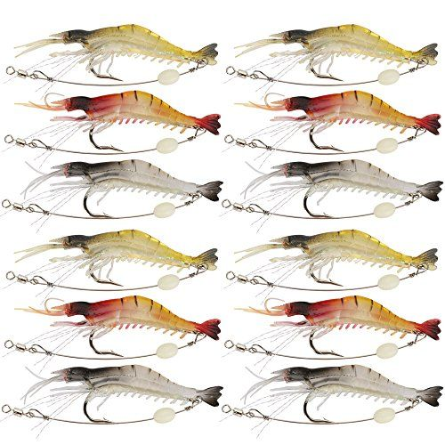 Shelure Soft Lures Shrimp Bait Set, Freshwater/ Saltwater, Trout Bass Salmon - http://fishinglures.nationalsales.com/shelure-soft-lures-shrimp-bait-set-freshwater-saltwater-trout-bass-salmon/