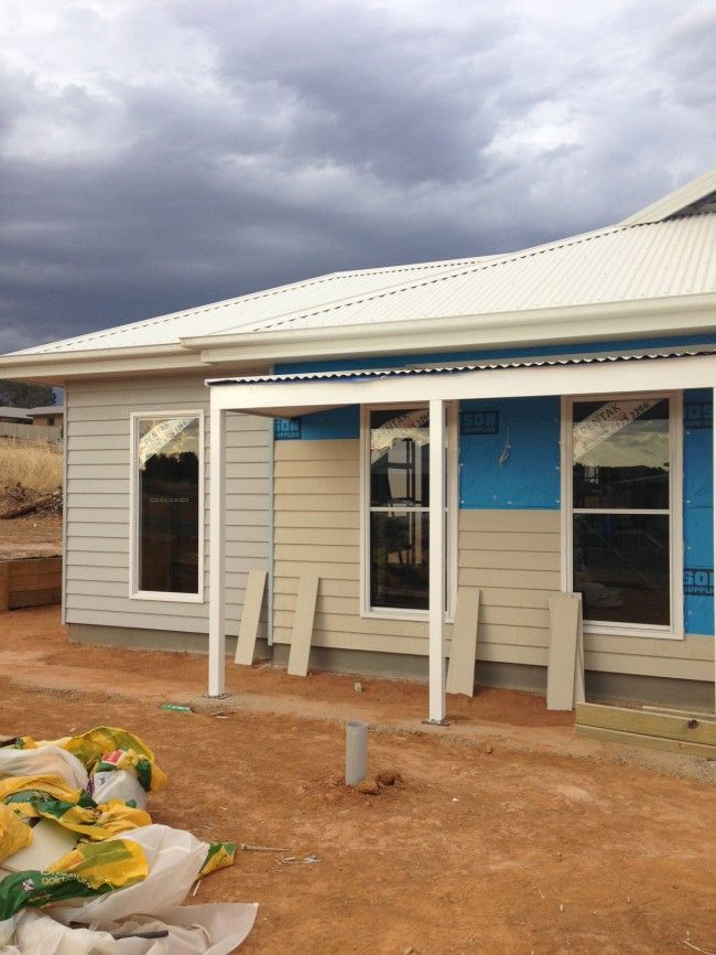 House update: the weatherboard is on
