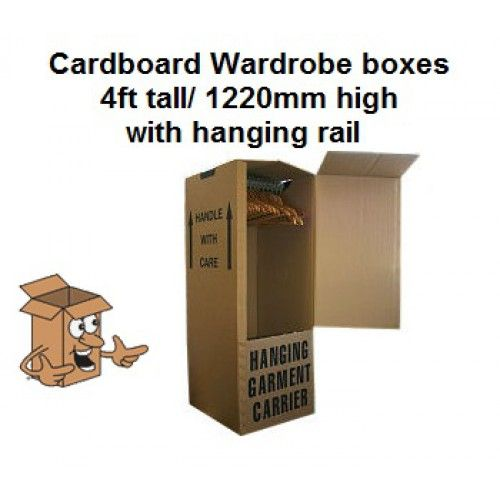 Wardrobe boxes 4ft tall cardboard wardrobe box