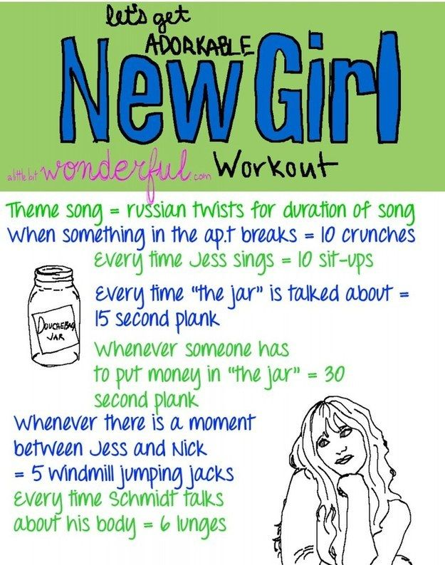 New Girl | 43 Workouts That Allow You To Watch An Ungodly Amount Of Television definitely doing this!